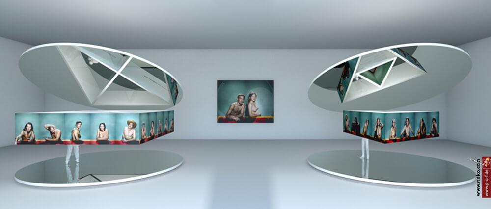 Virtueller Ausstellungsraum in Übersicht