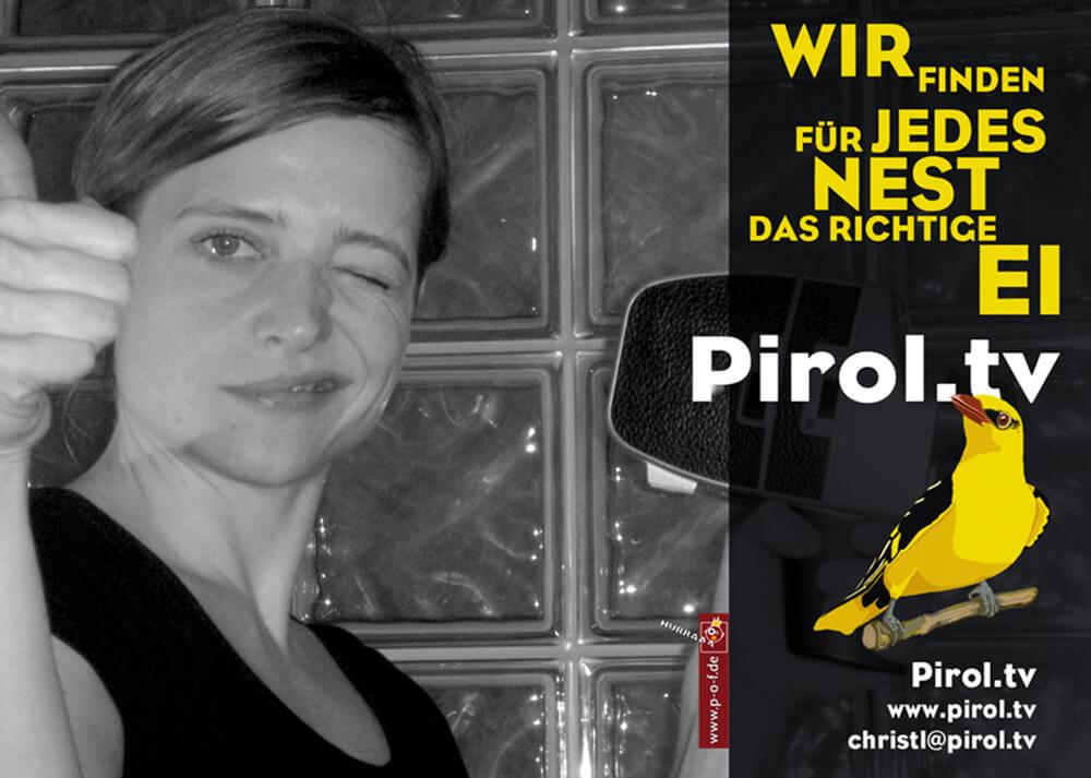 Werbeflyer für Pirol TV