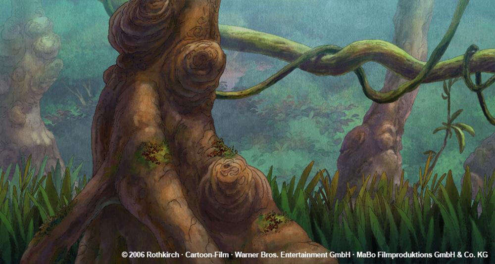 kleiner Dodo TV - Wald im Sonnenaufgang