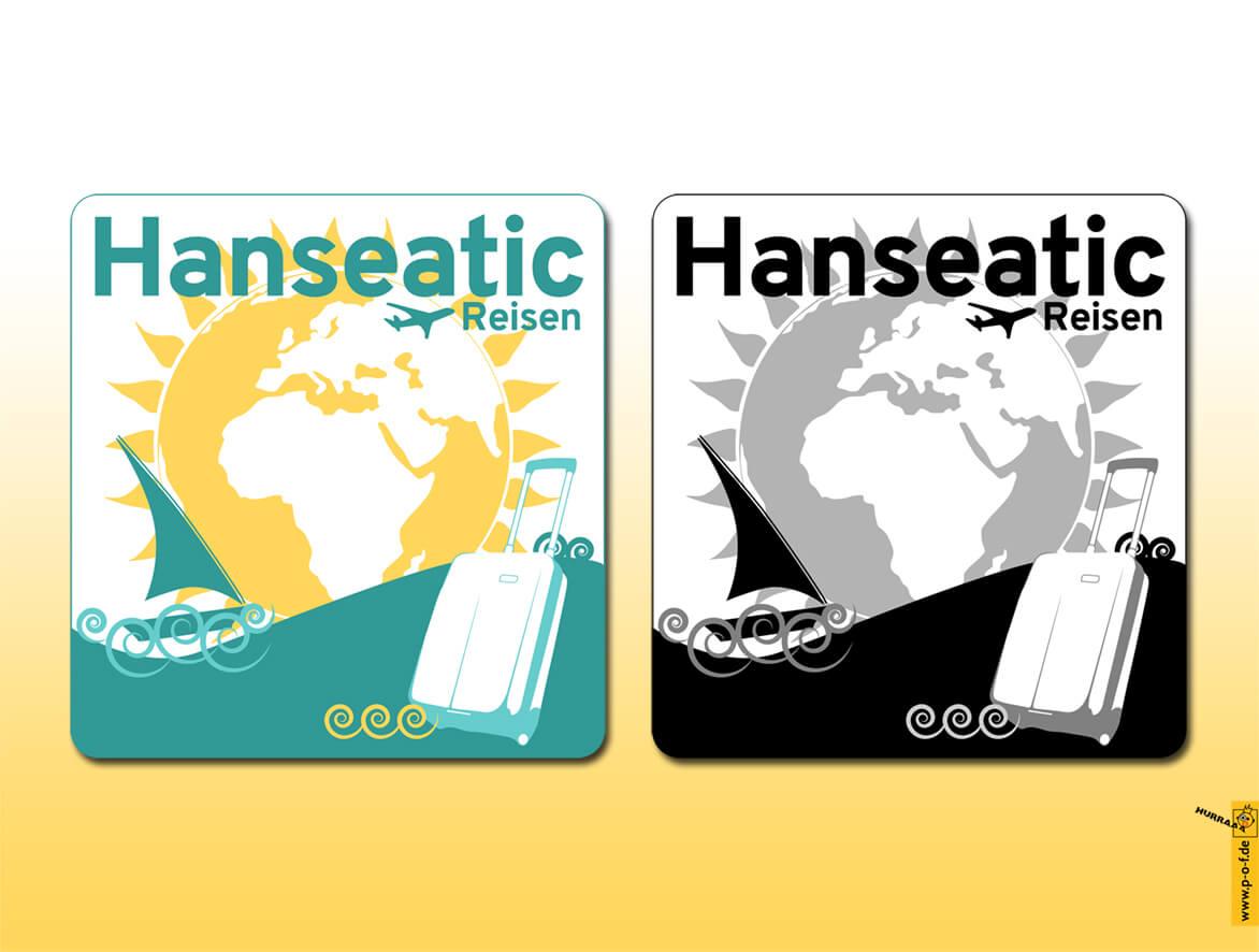 Hanseatic ist ein Logo für ein Reisebüro