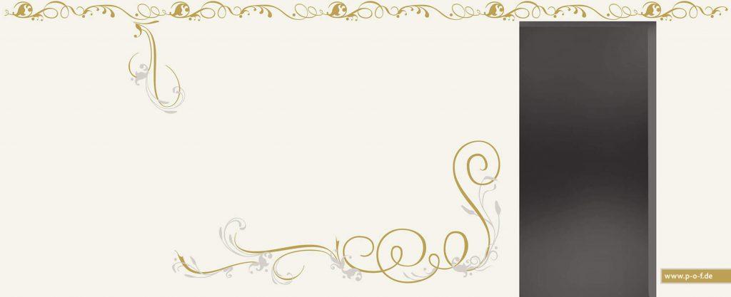 geschwungene Wandtatoos in Gold und Silber für Hayal Tanzstudio