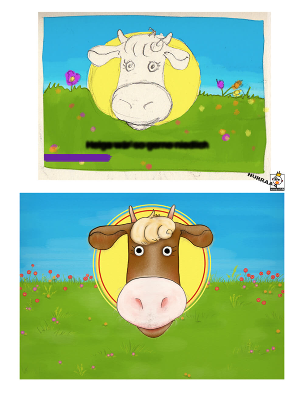 """Buchtitel zu """"Du Kuh"""" Entwurf"""