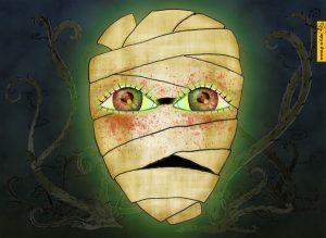 Allongé - Tanzmaerchen 2016 - animiertes Buehnenbild Gruseltanz