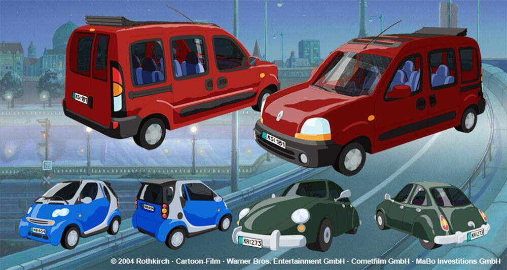 3D-Props Laura Stern Film - diverse Autos