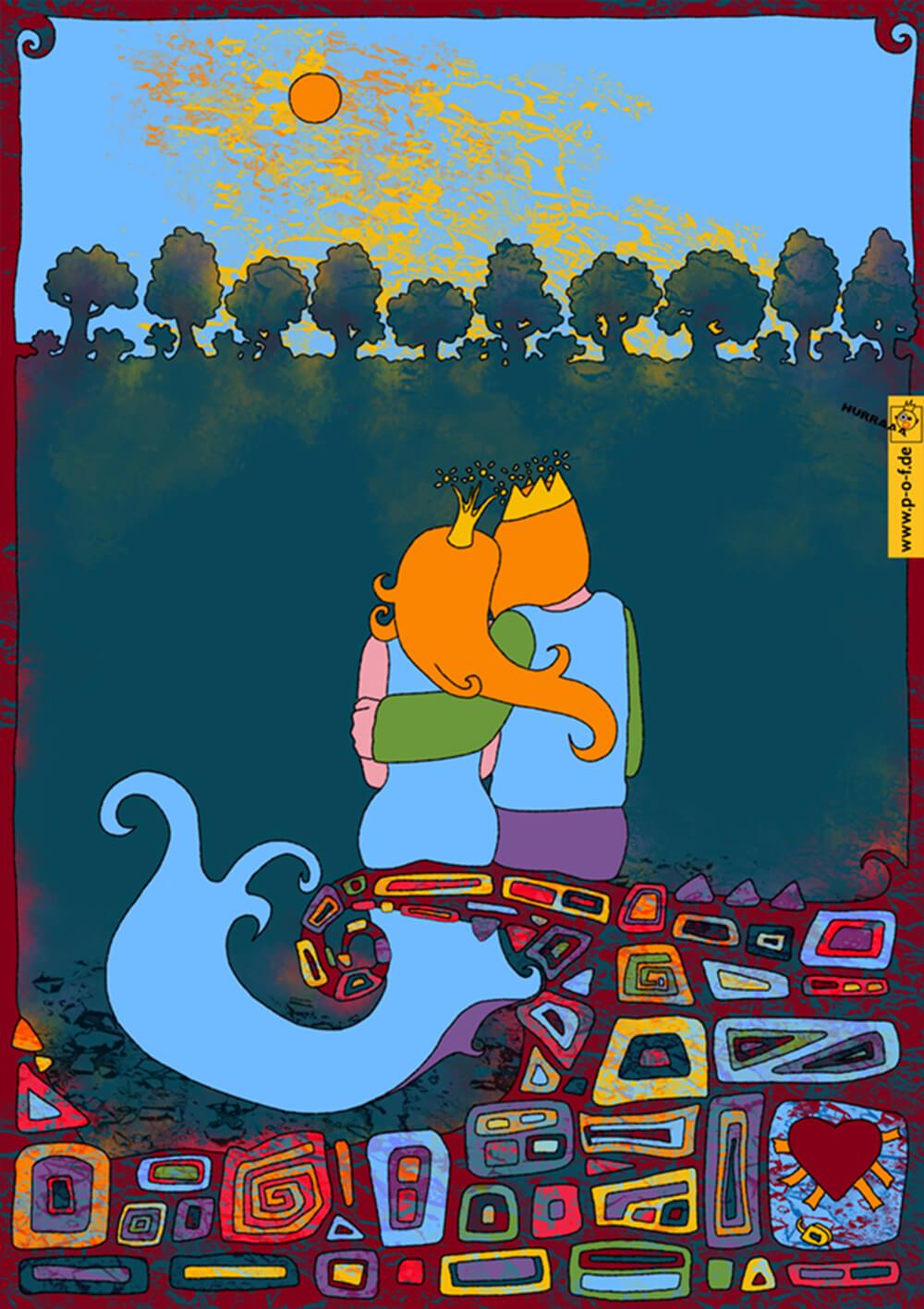Frosch ist als Prinz für die Prinzessin die Erlösung (der eiserne Heinrich)