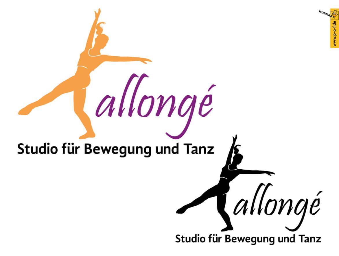 Allongé ist ein Logo für ein berliner Tanzstudio