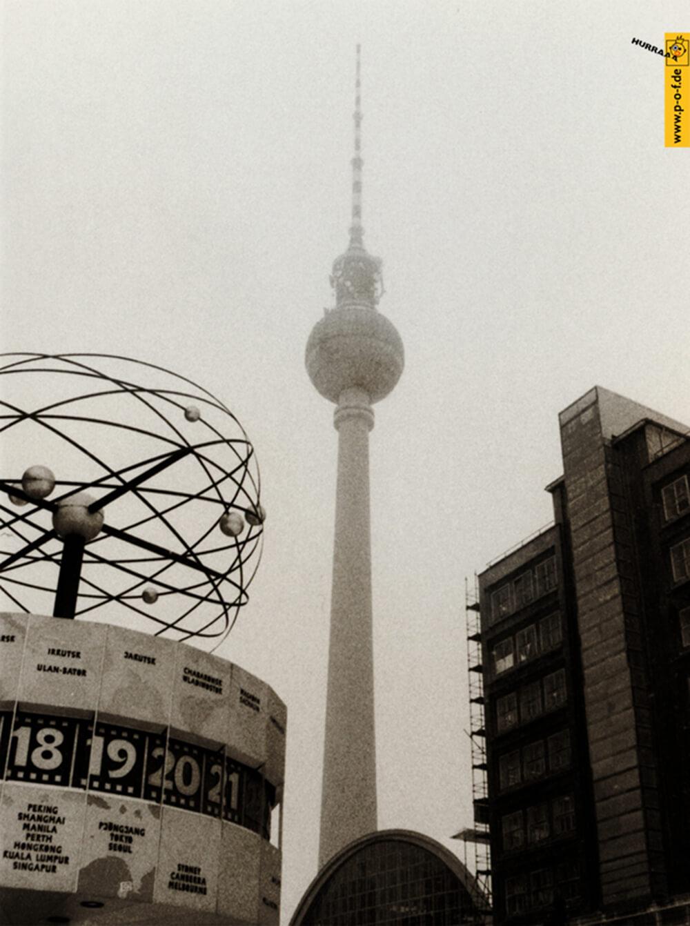 Alexanderplatz als Sepiafoto