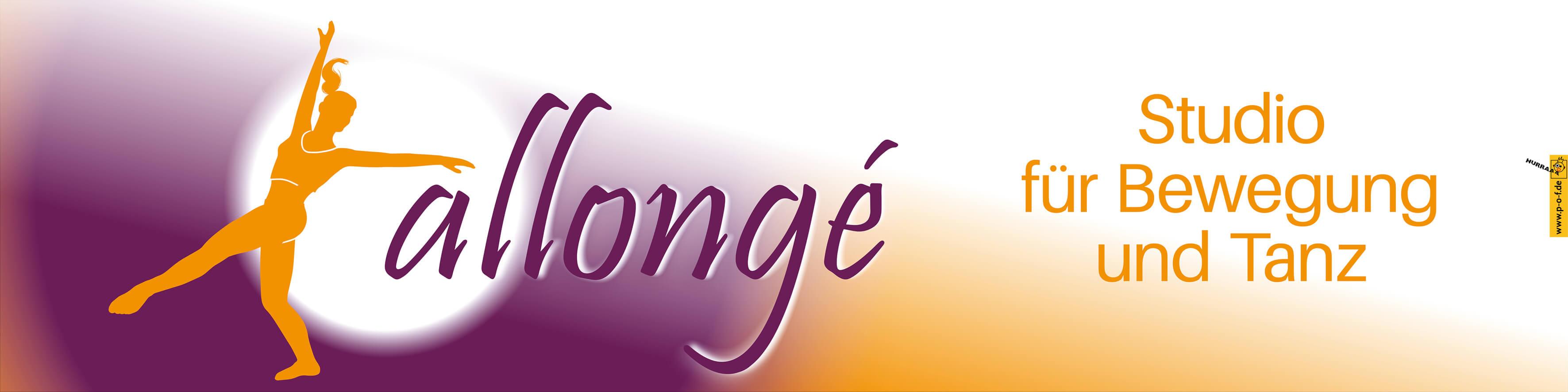 Allongé Tanzstudio - omnipresentes Werbebanner