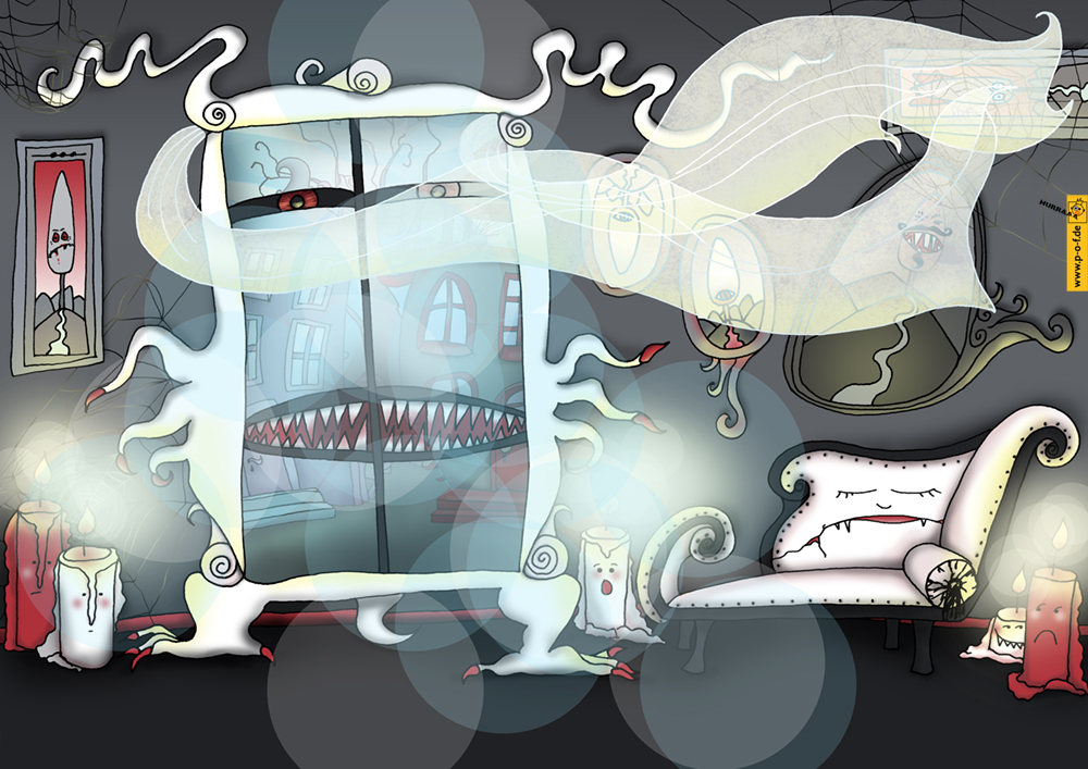 Wohnzimmer Geister-Haus