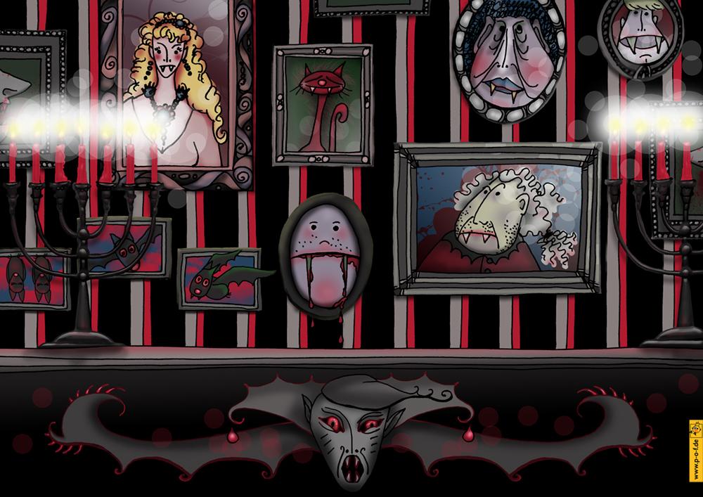 Wohnzimmer Dracula-Haus